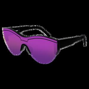 BALENCIAGA BB0004S 002 Black Cat Eye Unisex 99 mm Sunglasses