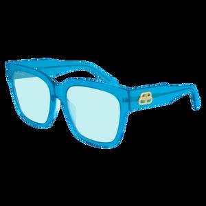 BALENCIAGA BB0056S 004 Blue Square Women's 55 mm Sunglasses