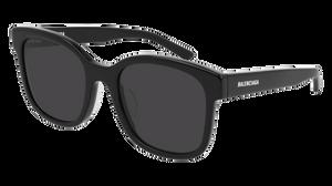 BALENCIAGA BB0076SK 006 Black Square Round Unisex 52 mm Sunglasses