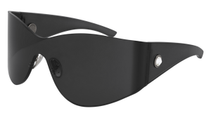 BALENCIAGA BB0122S 001 Oversize Grey Women's 99 mm Sunglasses