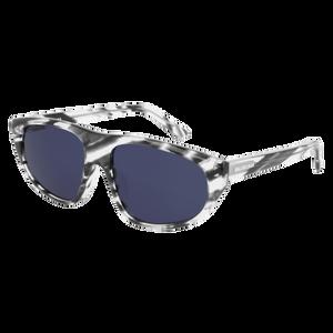 BALENCIAGA BB0098S 004 Havana Rectangle Men's 60 mm Sunglasses