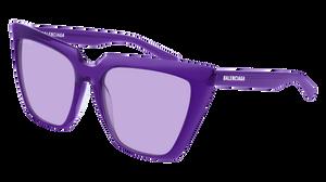 BALENCIAGA BB0046S 003 Violet Cat Eye Women's 55 mm Sunglasses
