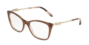 TIFFANY TF2160B 8255 Brown Rectangle Square Women's 52 mm Eyeglasses