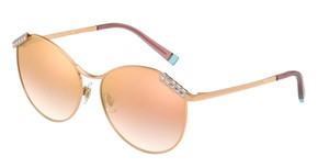 TIFFANY TF3073B 61396F Rubedo Gold Round Women's 59 mm Sunglasses
