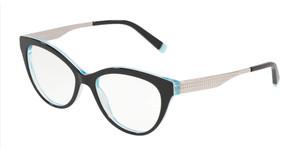 TIFFANY TF2180 8274 Black Oval Square Women's 54 mm Eyeglasses