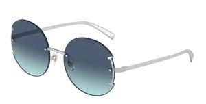 TIFFANY TF3071 60019S Silver Round Women's 56 mm Sunglasses