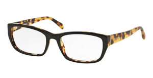 PRADA VPR 18O NAI-1O1 Black Medium Havana Rectangle Women's 54 mm Eyeglasses