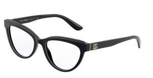 DOLCE & GABBANA DG3332 501 Black Cat Eye Women's 54 mm Eyeglasses