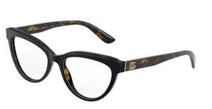 DOLCE & GABBANA DG3332 3270 Black Havana Cat Eye Women's 54 mm Eyeglasses