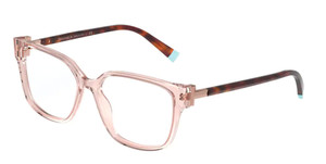TIFFANY TF2197F 8311 Transparent Peach Square Women's 54 mm Eyeglasses