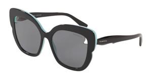 TIFFANY TF4161 805581 Black Polarized Cat Eye Women's 56 mm Sunglasses