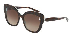 TIFFANY TF4161 81343B Havana Cat Eye Women's 56 mm Sunglasses
