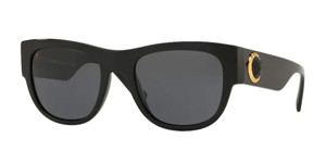 VERSACE VE4359A GB1 87 Black Round Square Men's 55 mm Sunglasses