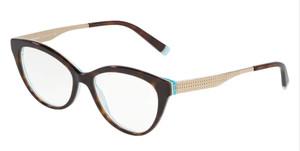 TIFFANY TF2180 8275 Havana Oval Round Women's 52 mm Eyeglasses