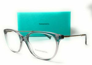 TIFFANY TF2168 8270 Crystal Grey Women Square Demo Lens Eyeglasses Frame 52 mm