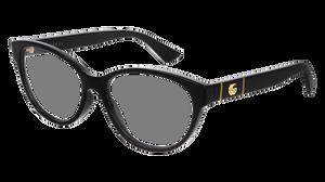 GUCCI GG0633O 001 Black Rectangle Square Women's 54 mm Eyeglasses
