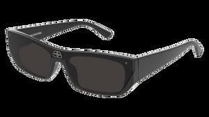 BALENCIAGA BB0080S 001 Black Rectangle Unisex 99 mm Sunglasses