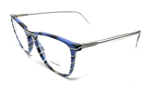 Prada VPR 08V 319-1O1 Blue Women's Authentic Eyeglasses Frame 53mm