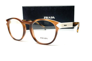 PRADA VPR 16T USG-1O1 Striped Dark Brw Demo Lens Women's Eyeglasses 52mm