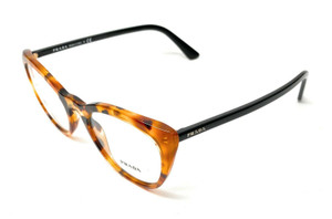 Prada VPR 07V UF3-1O1 Havana Women Authentic Eyeglasses Frame 53mm
