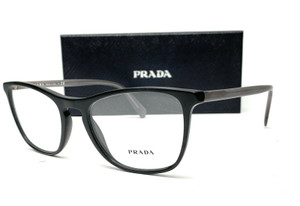 PRADA VPR 08V 1BO-1O1 Matte Black Demo Lens Men's Eyeglasses 53mm