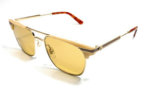 GUCCI GG0287S 005 Beige Men's Authentic Sunglasses 52 mm