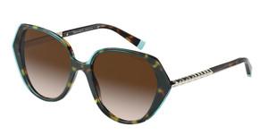 TIFFANY TF4179B 82803B Havana Square Women's 55 mm Sunglasses