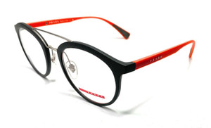 Prada VPS 01H U6X-1O1 Matte Grey/Orange Men's Authentic Eyeglasses Frame 50-21