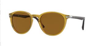 PERSOL PO3152S 113233 Yellow Round Men's 52 mm Sunglasses
