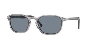PERSOL PO3234S 113356 Smoke Rectangle Men's 54 mm Sunglasses