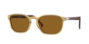 PERSOL PO3152S 113233 Yellow Round Men's 49 mm Sunglasses