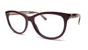 GUCCI GG0310O 003 Burgundy Women's Authentic Eyeglasses Frame 53 mm