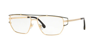 VERSACE VE1257 1458 Gold Rectangle Men's 55 mm Eyeglasses