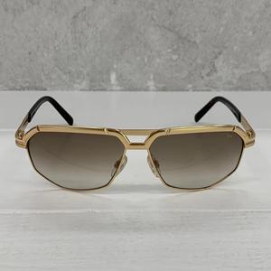 CAZAL 9056 003 Gold Rectangle Men's 61 mm Sunglasses
