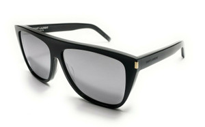 Saint Laurent SL 1 008 Black Unisex Authentic Sunglasses 59 mm