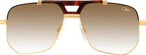 CAZAL 990 00300 Brown Gold Square Men's 59 mm Sunglasses