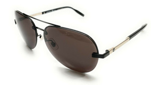 Mont Blanc MB0018S 005 Black Men's Authentic Sunglasses 62-14-B5