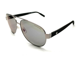 MONT BLANC MB0064S 008 Ruthenium/Grey Men's Authentic Aviators Sunglasses 62-15