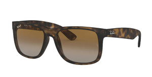 RAY BAN RB4165 865 T5 Rubber Havana Square Men's 55 mm Sunglasses