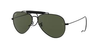 RAY BAN RB3030 L9500 Black Aviator Unisex 58 mm Sunglasses