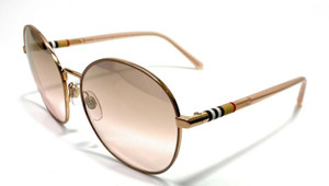 Burberry BE3094 12587I Gold/Brown Women's Aviators Sunglasses 59mm