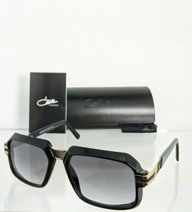 CAZAL 8039 001 Black Gold Square Men's 56 mm Sunglasses