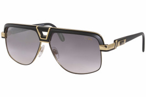 CAZAL 991 002 Matte Black Square Gold Plated Men's Sunglasses