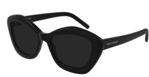 SAINT LAURENT SL 68 001 Black Square Women's 54 mm Sunglasses