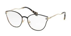 MIU MIU VMU 53Q 1AB-1O1 Black Square Women's 52 mm Eyeglasses