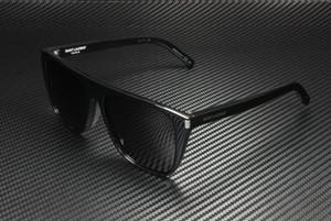 SAINT LAURENT SL 1/F 001 Black Rectangle Unisex 58 mm Sunglasses
