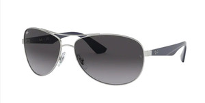 RAY BAN RB3526 019 8G Matte Silver Pilot Men's 63 mm Sunglasses