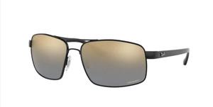 RAY BAN RB3604CH 002 J0 Black Square Men's 62 mm Polarized Sunglasses
