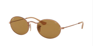 RAY BAN RB3547N 91314I Copper Oval Unisex 51 mm Sunglasses