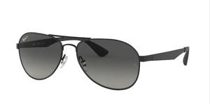 RAY BAN RB3549 002 T3 Black Pilot Unisex 61 mm Polarized Sunglasses